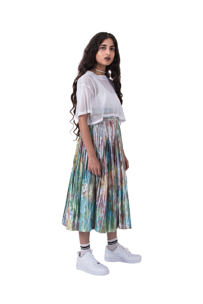 SHIMMA PLEATED SKIRT