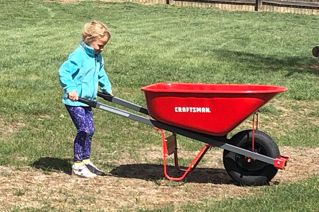 So much depends upon the kindness of family. Cordelia plays at yard work on our study abroad in Longmont, Colorado. *Said baby is now healthily here!