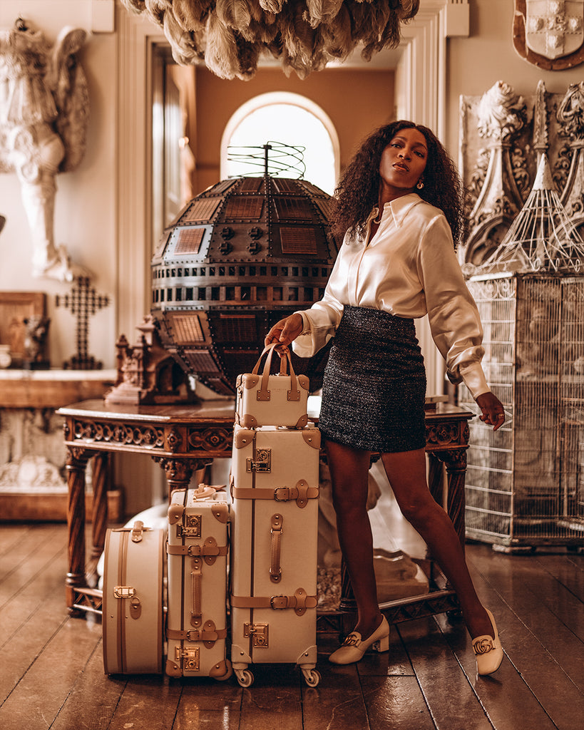 Onyi Moss with her Sweetheart SteamLine Luggage