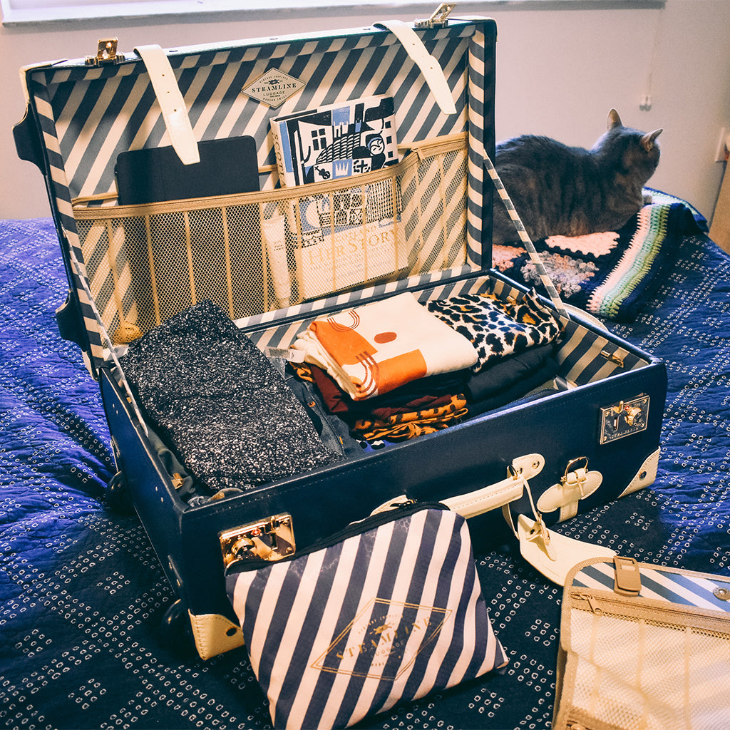 How to Pack Simply by SteamLine Luggage - photo by Christine Csencsitz, Cats & Coffee
