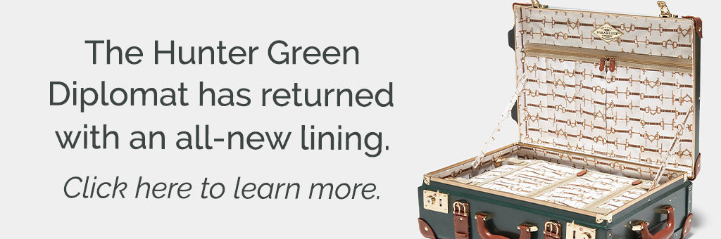 SteamLine Luggage's Hunter Green Diplomat with Snaffle Inspired Lining