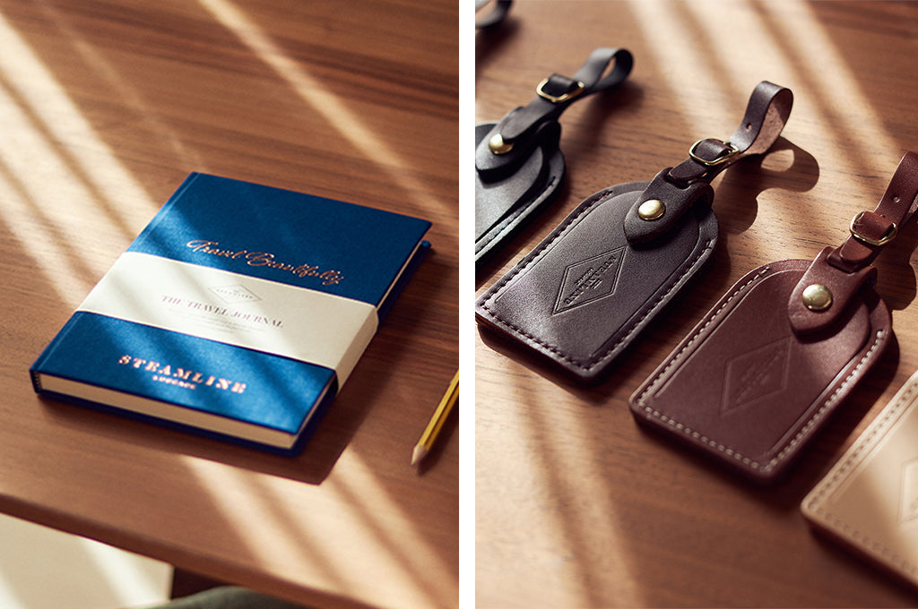 SteamLine Luggage's Travel Journal and Luggage Tags