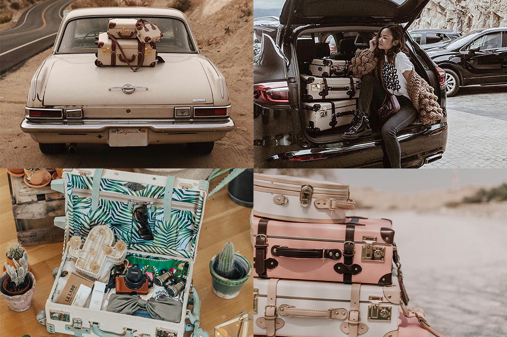 Pretty Little Fawn road trips with The Diplomat; Victoria Hui carries The Architect; Madeline Lu keeps it green with The Editor in Teal; Aida Đapo Muharemović creates a SteamLine stack of the Sweetheart and Artist in Pink.