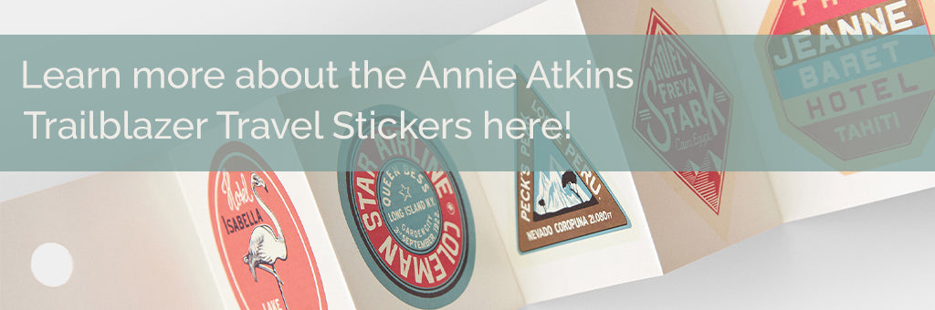 ANNIE ATKINS TRAILBLAZER TRAVEL STICKERS