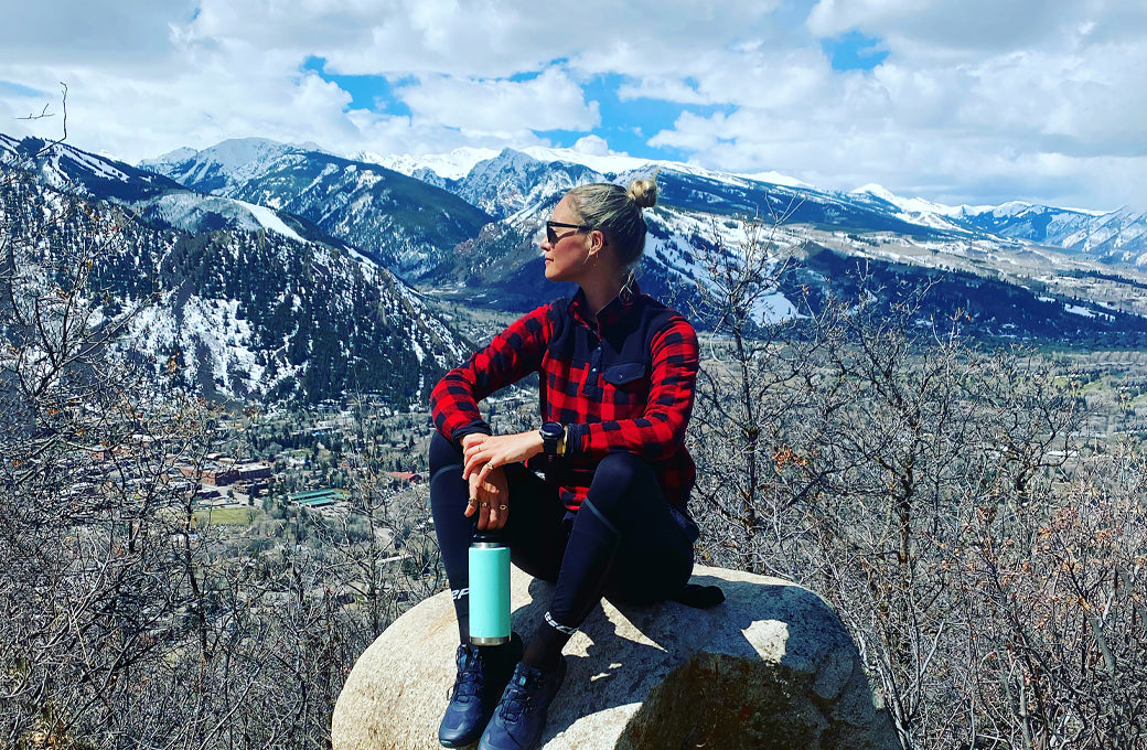 Hiking up Smuggler in Aspen, CO on Earth Day 2020