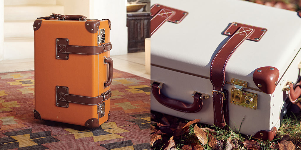 The SteamLine Luggage bonded-leather Orange Anthropologist and Cream Diplomat