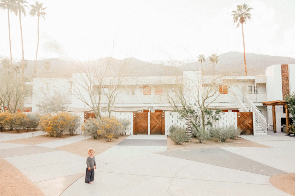 "Whitney's son West, on a ""tiny adventure"" in Palm Springs, 2018"