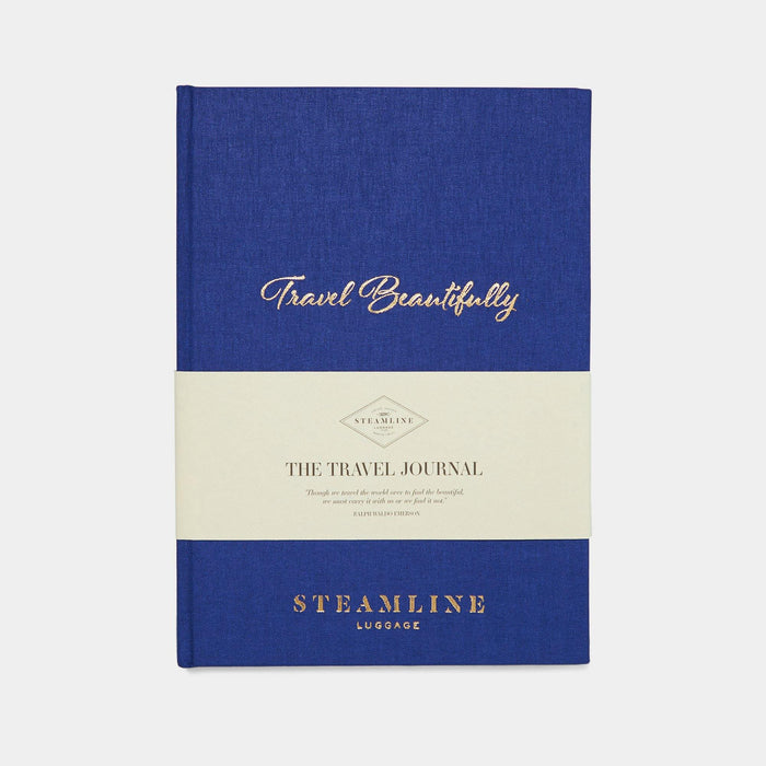 Blue Travel Journal - Irish And Hand-Bound - Steamline Luggage
