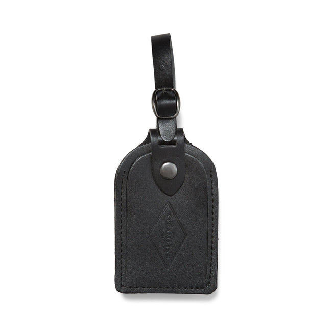 Black Leather - Luggage Tag