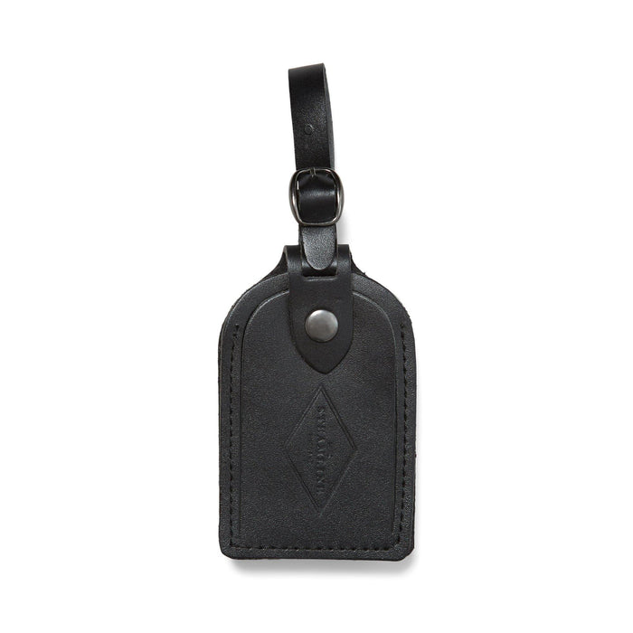 Black Leather - Luggage Tag - Steamline Luggage