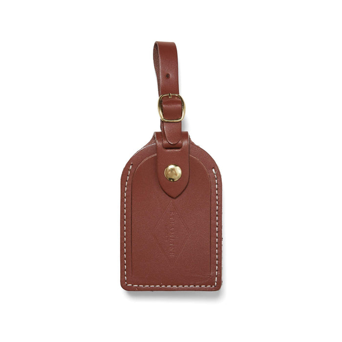 British Brown Leather - Luggage Tag - Steamline Luggage