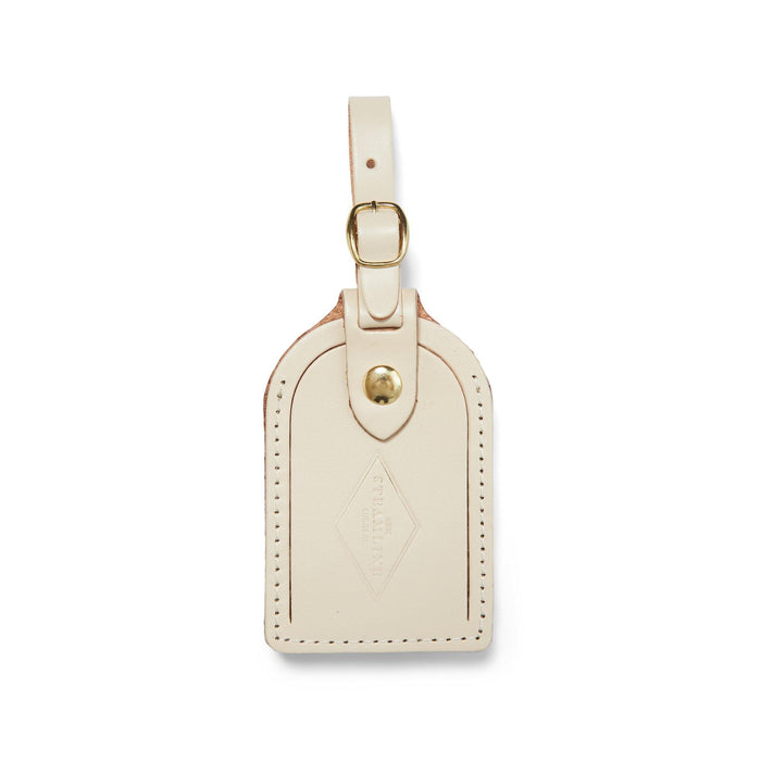 Ivory Leather - Luggage Tag - Steamline Luggage