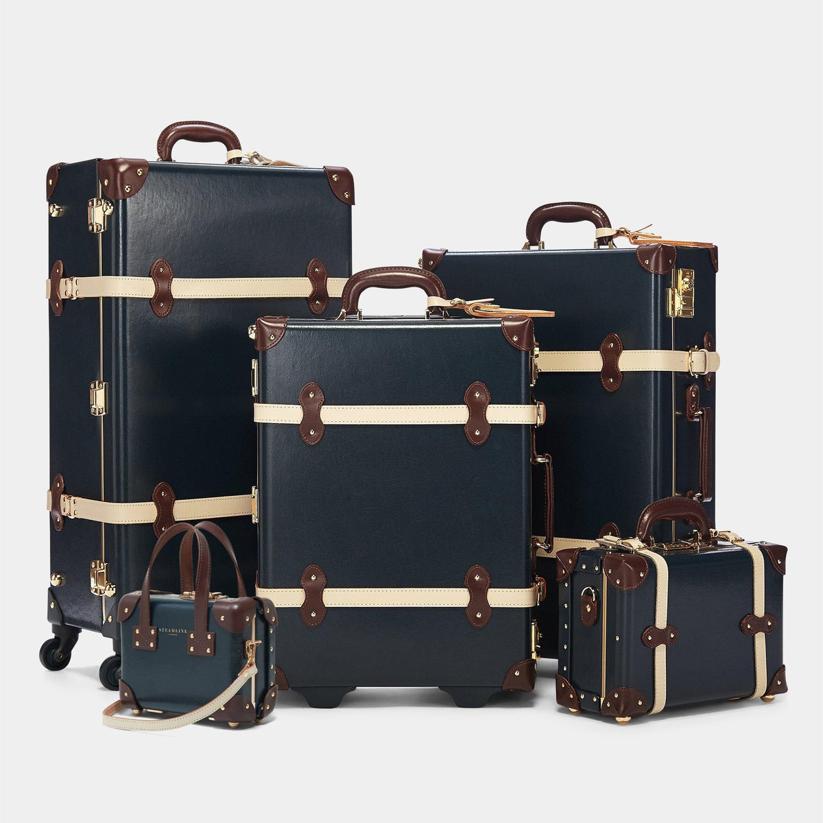 The Architect - Navy Check In Spinner - Steamline Luggage