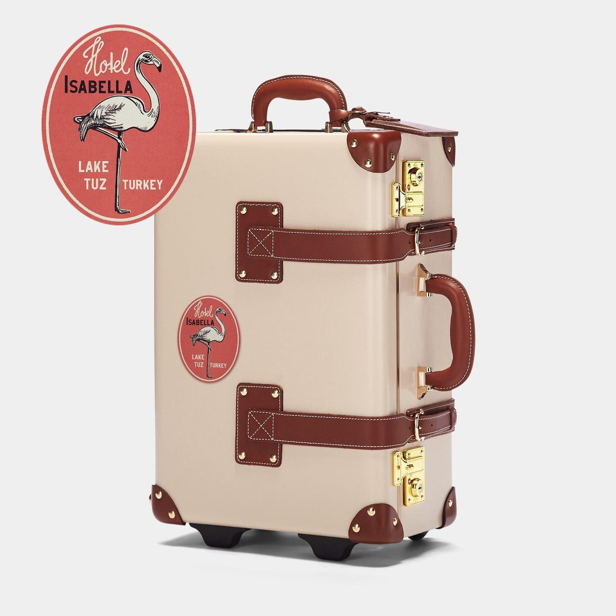 The Adventurer's Gift Set - with Ivory Leather Luggage Tag - Steamline Luggage