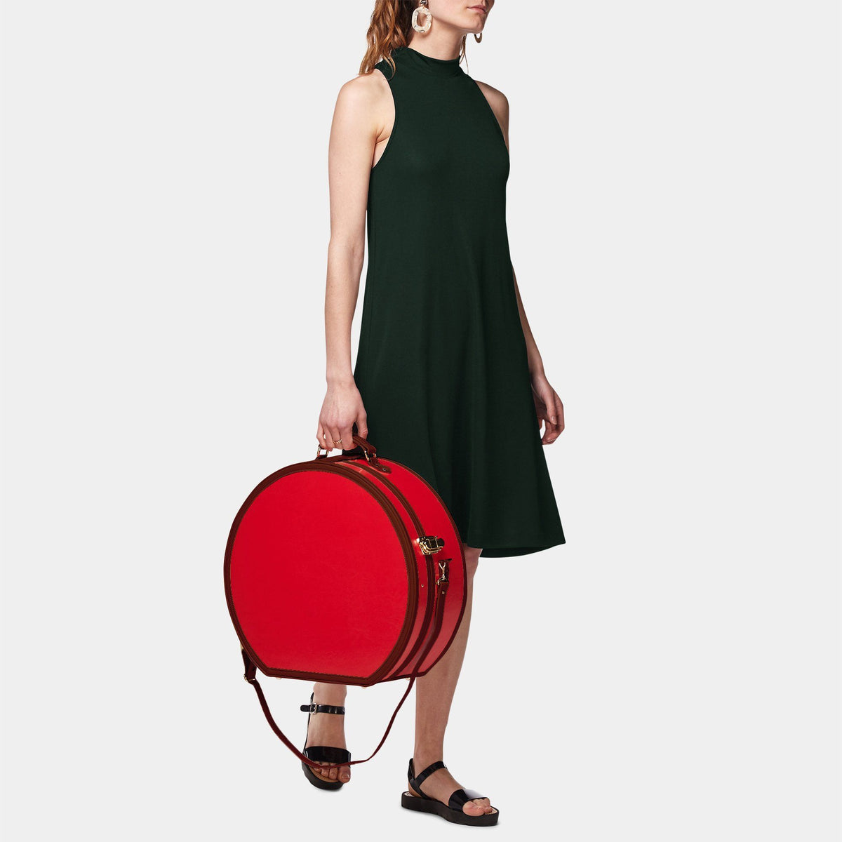 The Entrepreneur - Red Deluxe Hatbox