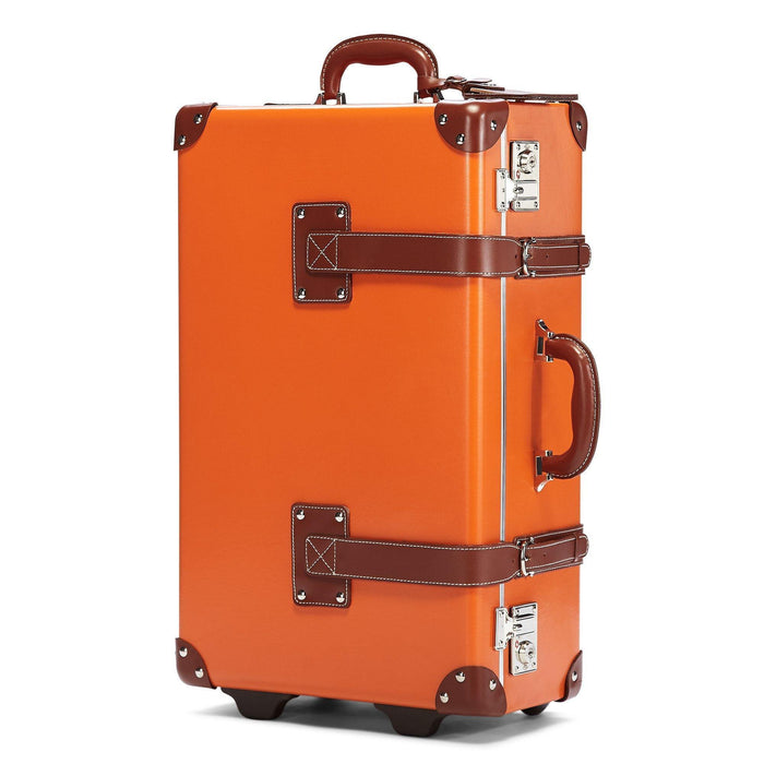 The Anthropologist Stowaway in Orange - Vintage Style Leather Case - Exterior Front