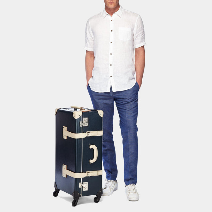 The Anthropologist - Navy Check In Spinner - Steamline Luggage