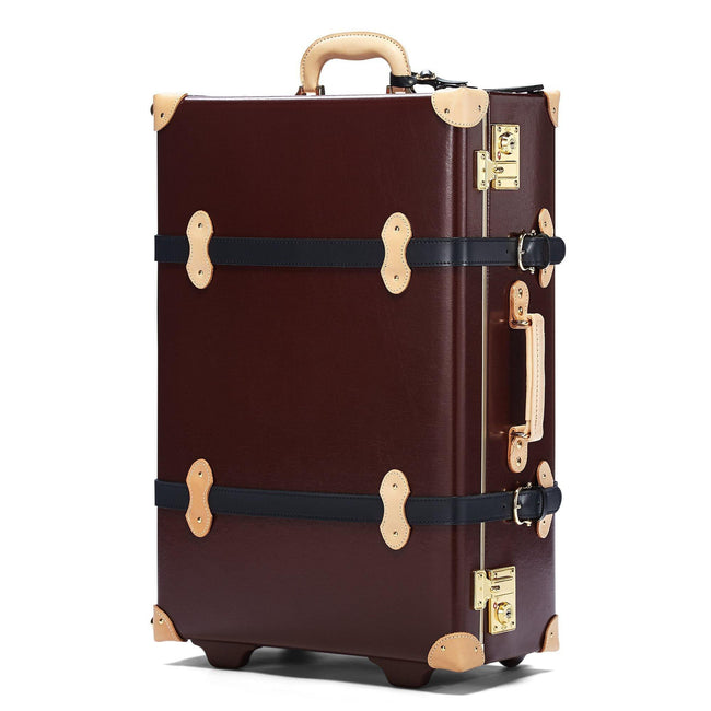 The Architect Stowaway in Burgundy - Vintage Style Leather Case - Exterior Front