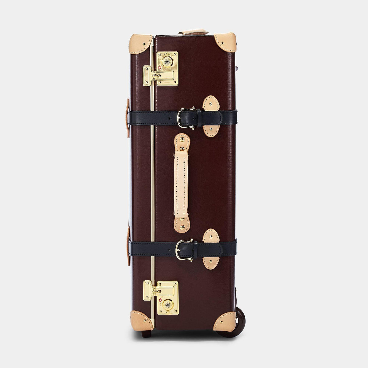 The Architect Stowaway in Burgundy - Vintage Style Leather Case - Exterior Side