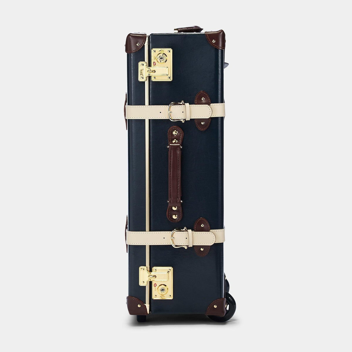 The Architect Stowaway in Navy -Vintage Style Leather Case - Exterior Side