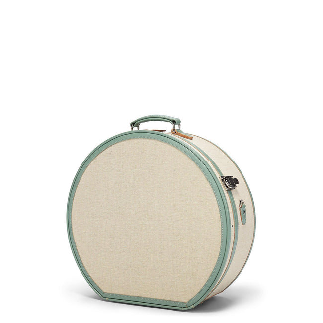 The Editor Hatbox Deluxe in Seagreen - Hat Box Luggage - Exterior Front