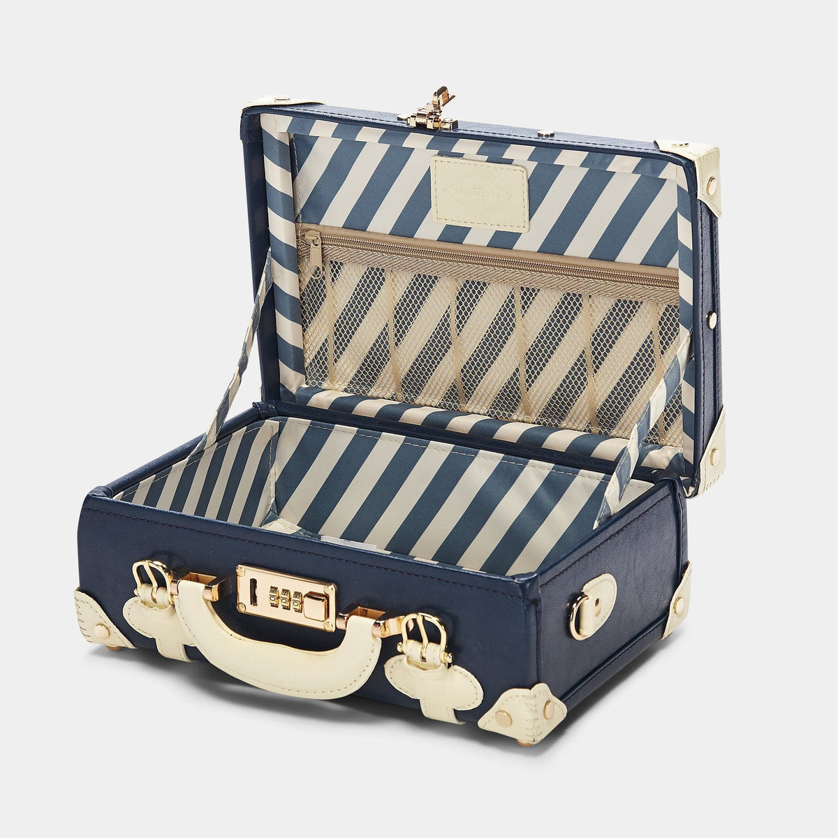 The Entrepreneur Vanity in Navy - Vintage-Inspired Luggage - Interior Front