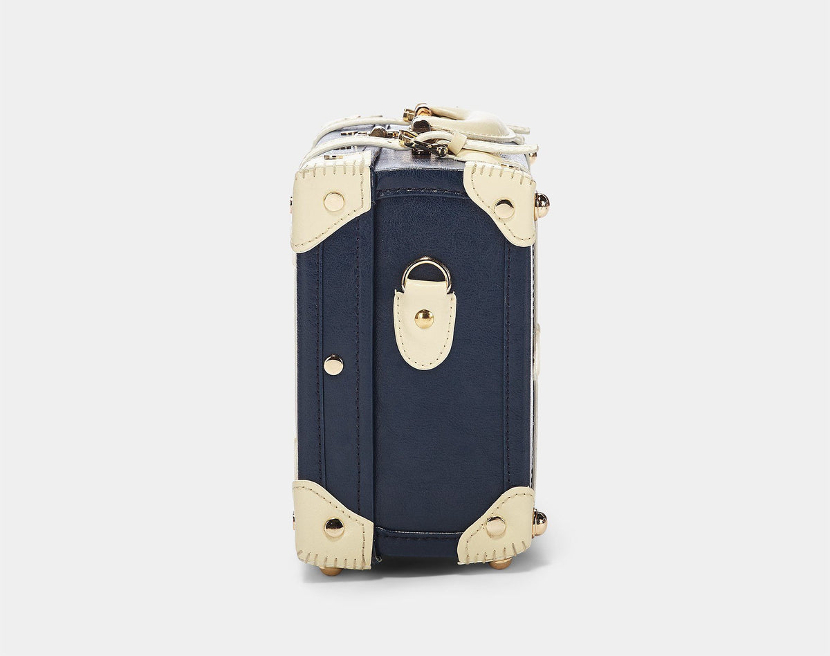The Entrepreneur Vanity in Navy - Vintage-Inspired Luggage - Exterior Side