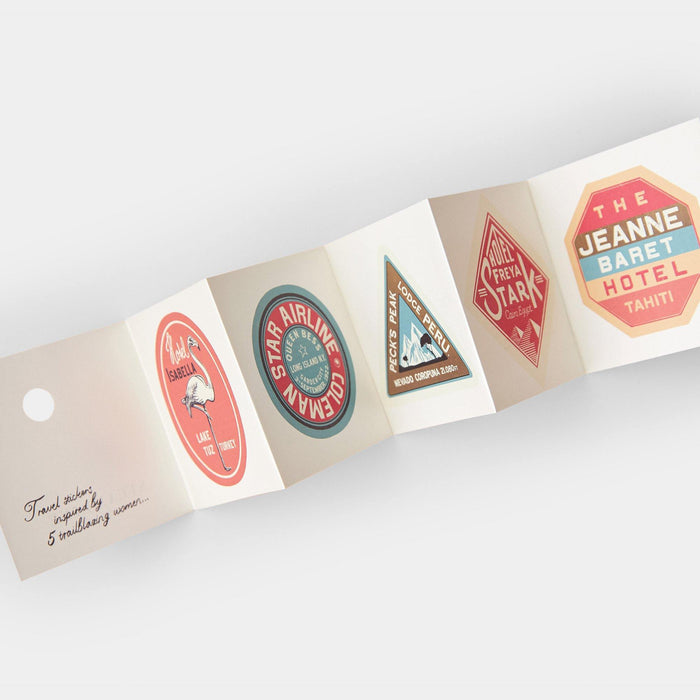 Annie Atkins - Trailblazer Travel Stickers - Steamline Luggage