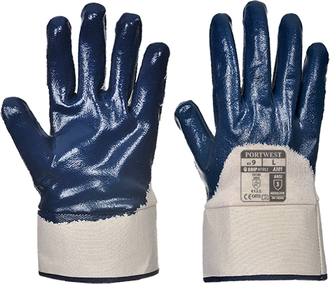 a301 Nitrile Safety Cuff Glove