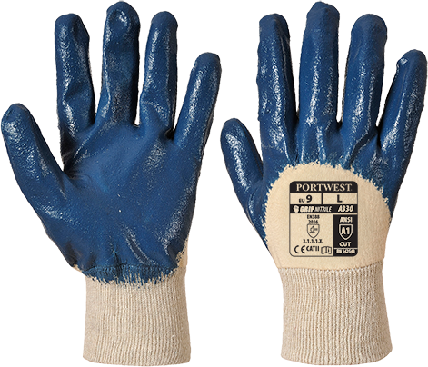 a330 Nitrile Light Knitwrist Glove