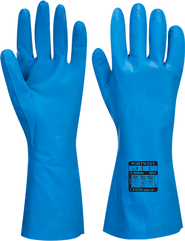 a814 Food-Approved Nitrile Gauntlet