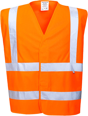 fr70 Hi-Vis Vest FR Finish