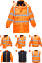 rt27 Jacheta Hi-Vis 7-in-1 RIS