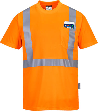 s190 Hi-Vis Pocket T-Shirt