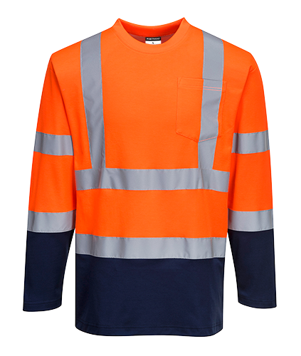 s280 Hi-Vis Two-Tone T-Shirt L/S