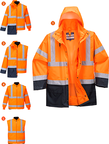 s766 Jacheta Essential 5in1 Hi-Vis