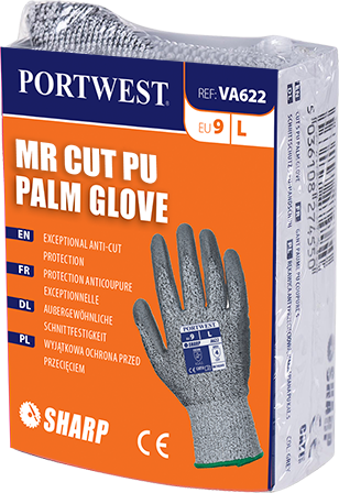 va622 MR Cut PU Palm Glove