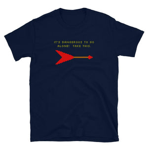 It's Dangerous to Go Alone (Flying V) - T-Shirt - Death Emporium