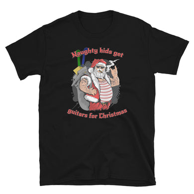 Naughty Kids Get Guitars for Christmas - T-Shirt - Death Emporium