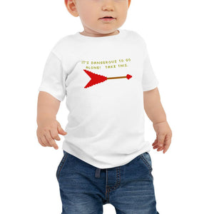 It's Dangerous to Go Alone (Flying V) - Toddler T-Shirt - Death Emporium