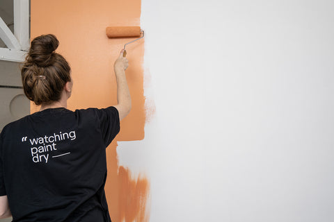Orange Emulsion Wall Paint by COAT Paints with Roller
