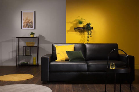 Grey and Yellow Two Toned Wall