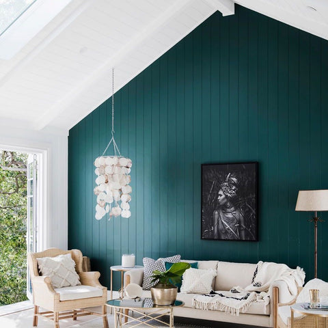 Teal Wooden Wall