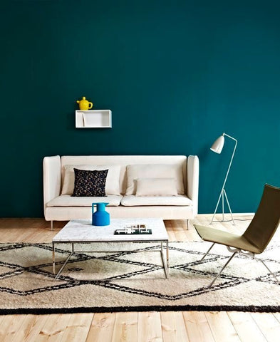 Strong Blue/ Teal Wall