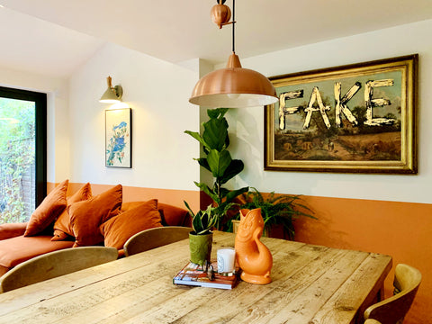 Orange Wall Paint Kitchen Diner