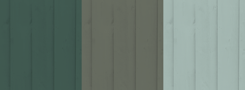 Dark Green Pale Green Fence Paint Colours