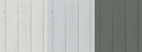 Pale Grey and Dark Grey Fence Paint Colours