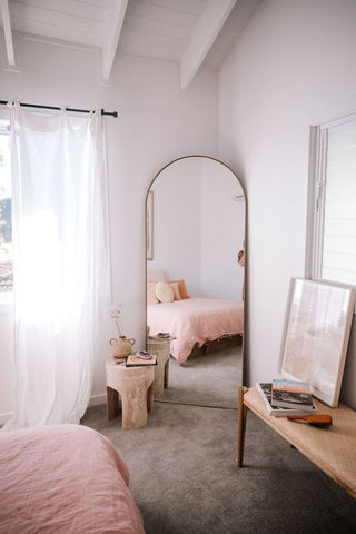Mirror Wall Paint Pink