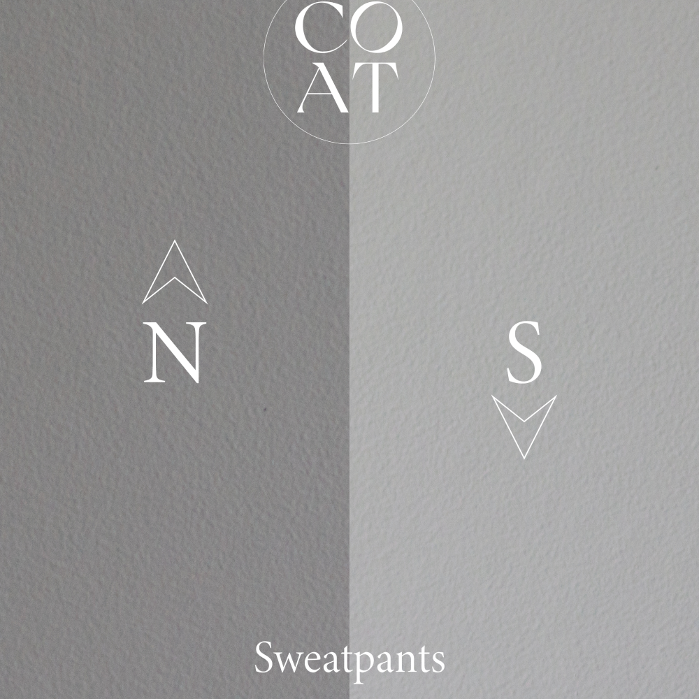 COAT Sweatpants Pale Grey Emulsion Paint