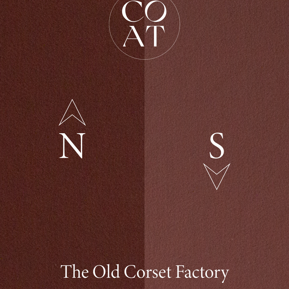 COAT The Old Corset Factory Dark Rust Red Emulsion Paint
